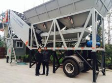 YHZS35 Mobile Concrete Batching Plant